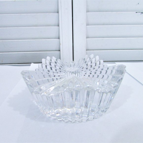Mikasa crystal faceted single candle holder